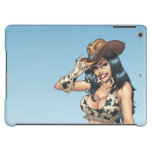 Cowgirl Tipping Her Cowboy Hat Illustration Case For iPad Air