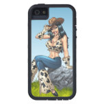 Cowgirl Tipping Her Cowboy Hat Illustration Case For iPhone 5