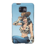 Cowgirl Tipping Her Cowboy Hat Illustration Galaxy SII Cases