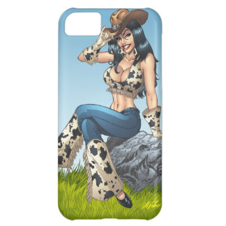 Cowgirl Tipping Her Cowboy Hat Illustration iPhone 5C Covers