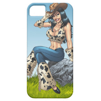 Cowgirl Tipping Her Cowboy Hat Illustration iPhone 5 Cases