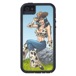 Cowgirl Tipping Her Cowboy Hat Illustration Cover For iPhone 5