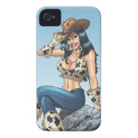 Cowgirl Tipping Her Cowboy Hat Illustration Case-Mate iPhone 4 Case