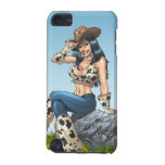 Cowgirl Tipping Her Cowboy Hat Illustration iPod Touch (5th Generation) Cases
