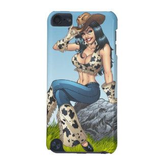 Cowgirl Tipping Her Cowboy Hat Illustration iPod Touch 5G Cases