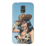 Cowgirl Tipping Her Cowboy Hat Illustration Galaxy S5 Cases