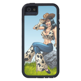 Cowgirl Tipping Her Cowboy Hat Illustration iPhone 5 Cover