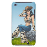 Cowgirl Tipping Her Cowboy Hat Illustration iPod Touch Cover