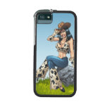 Cowgirl Tipping Her Cowboy Hat Illustration Case For iPhone 5/5S