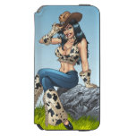 Cowgirl Tipping Her Cowboy Hat Illustration Incipio Watson™ iPhone 6 Wallet Case