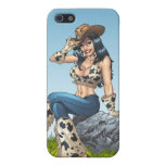 Cowgirl Tipping Her Cowboy Hat Illustration iPhone 5/5S Cases