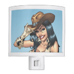 Cowgirl Tipping Her Cowboy Hat Illustration Night Light