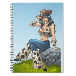 Cowgirl Tipping Her Cowboy Hat Illustration Note Books