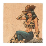 Cowgirl Tipping Her Cowboy Hat Illustration Drink Coaster