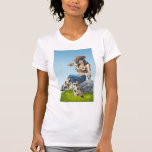 Cowgirl Tipping Her Cowboy Hat Illustration Shirt
