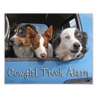 Cowgirl Truck Alarm 8x10 Photo Print
