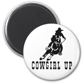 cowgirl up! magnet! 2 inch round magnet