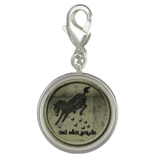 Cowgirl Up Wild Horse Charm