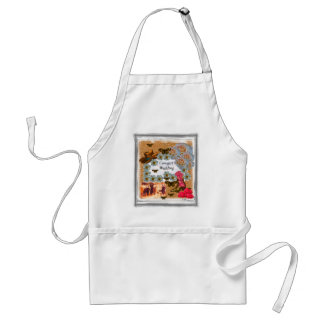 Cowgirl Wedding Western Boot Hat Flowers Adult Apron