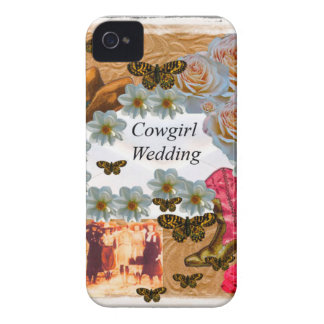 Cowgirl Wedding Western Boot Hat Flowers iPhone 4 Cover