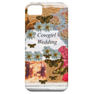 Cowgirl Wedding Western Boot Hat Flowers iPhone SE/5/5s Case