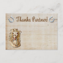 Cowgirl Western Horse Thank you notes