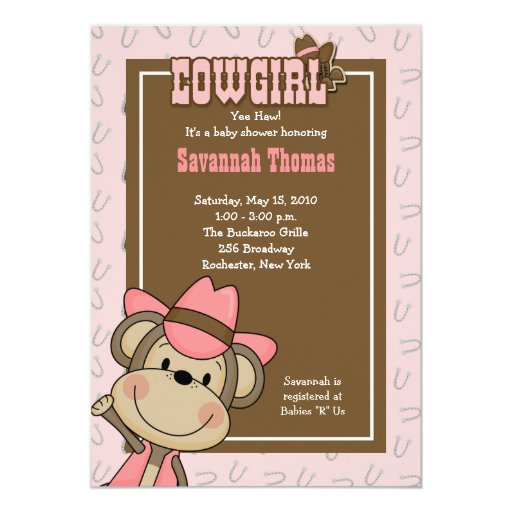 Girl Baby Shower Invitations All Pets Cherished