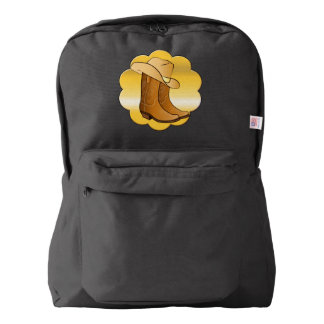 Cowgirl Western Wear: Country Boots and Hat American Apparel™ Backpack