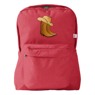 Cowgirl Western Wear: Country Boots and Hat Backpack