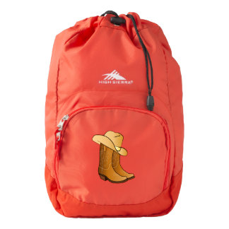 Cowgirl Western Wear: Country Boots and Hat High Sierra Backpack