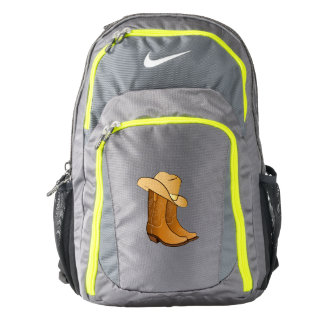 Cowgirl Western Wear: Country Boots and Hat Nike Backpack
