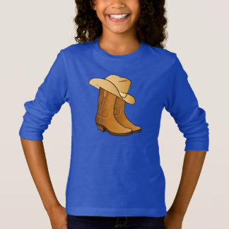 Cowgirl Western Wear: Country Boots and Hat T-Shirt