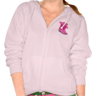 Cowgirl Western Wear Hat and Boots in Pink Hoodies