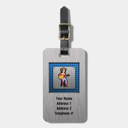 Cowgirl with Guitar Bag Tag