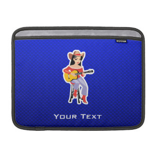 Cowgirl with Guitar Blue Sleeves For MacBook Air