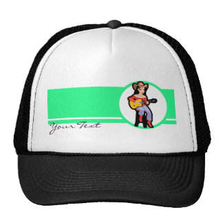 Cowgirl with Guitar; Colorful Trucker Hat