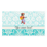 Cowgirl with Guitar; Cute Double-Sided Standard Business Cards (Pack Of 100)