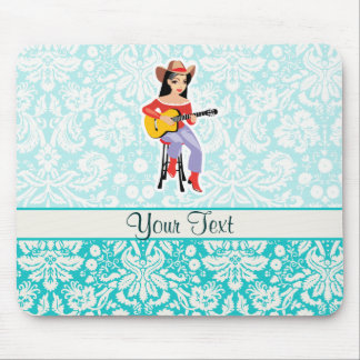 Cowgirl with Guitar; Cute Mouse Pad