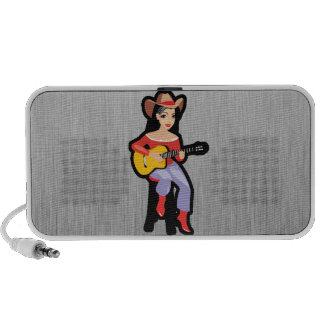Cowgirl with Guitar Mini Speaker