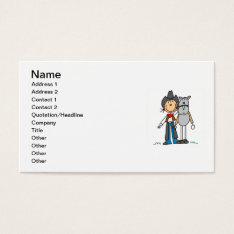 Cowgirl With Horse T-shirts And Gifts Business Card at Zazzle