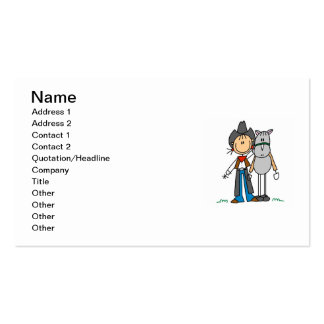 Cowgirl With Horse T-shirts and Gifts Business Card