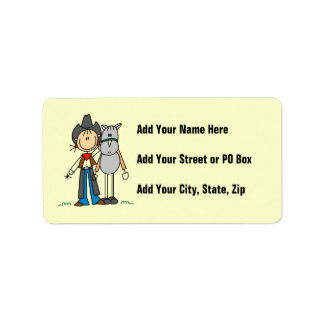 Cowgirl With Horse T-shirts and Gifts Label