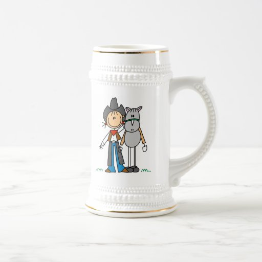 Cowgirl With Horse T-shirts and Gifts Mugs