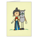 Cowgirl With Horse T-shirts and Gifts Stationery Note Card