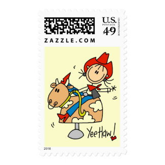 Cowgirl Yee Haw Tshirts and Gifts Postage Stamp