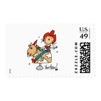 Cowgirl Yee Haw Tshirts and Gifts Postage Stamps