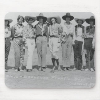 Cowgirls at Cheyenne Frontier Days, 1929. Mouse Pad