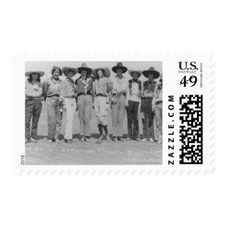 Cowgirls at Cheyenne Frontier Days, 1929. Stamp