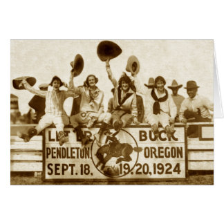 Cowgirls At The Round-Up Greeting Card
