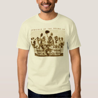 Cowgirls At The Round-Up Tee Shirt